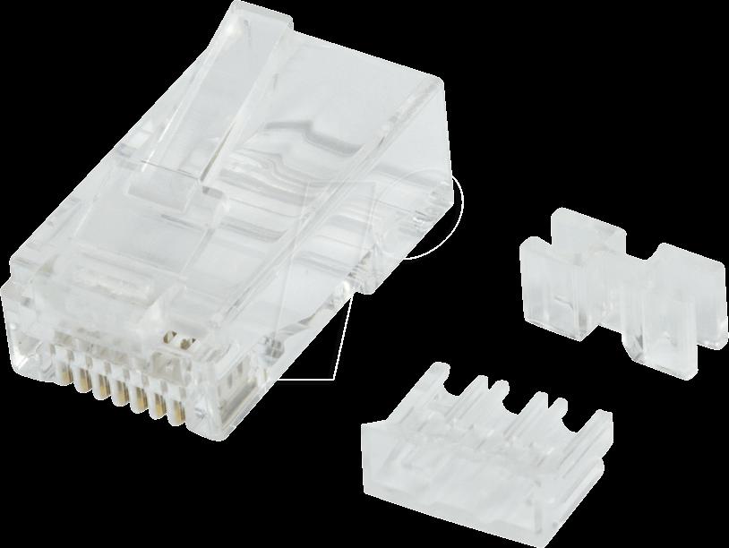 LOGILINK MP0071 - Modularer Steckverbinder Cat.6A UTP RJ45, 50 Stück
