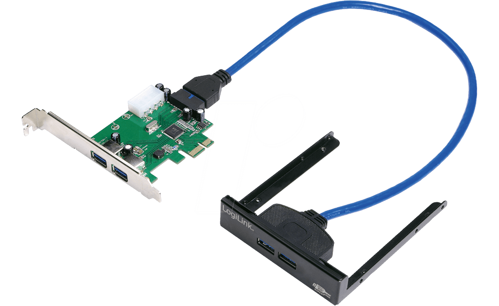 Carte Usb 3.Logilink Pc0058 Pci Express Card 2x Usb 3 0 Including Front Panel