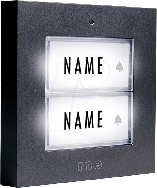 M-e modern-electronics KTA-3 A//S Klingelplatte mit Namensschild 3fach Silber 12