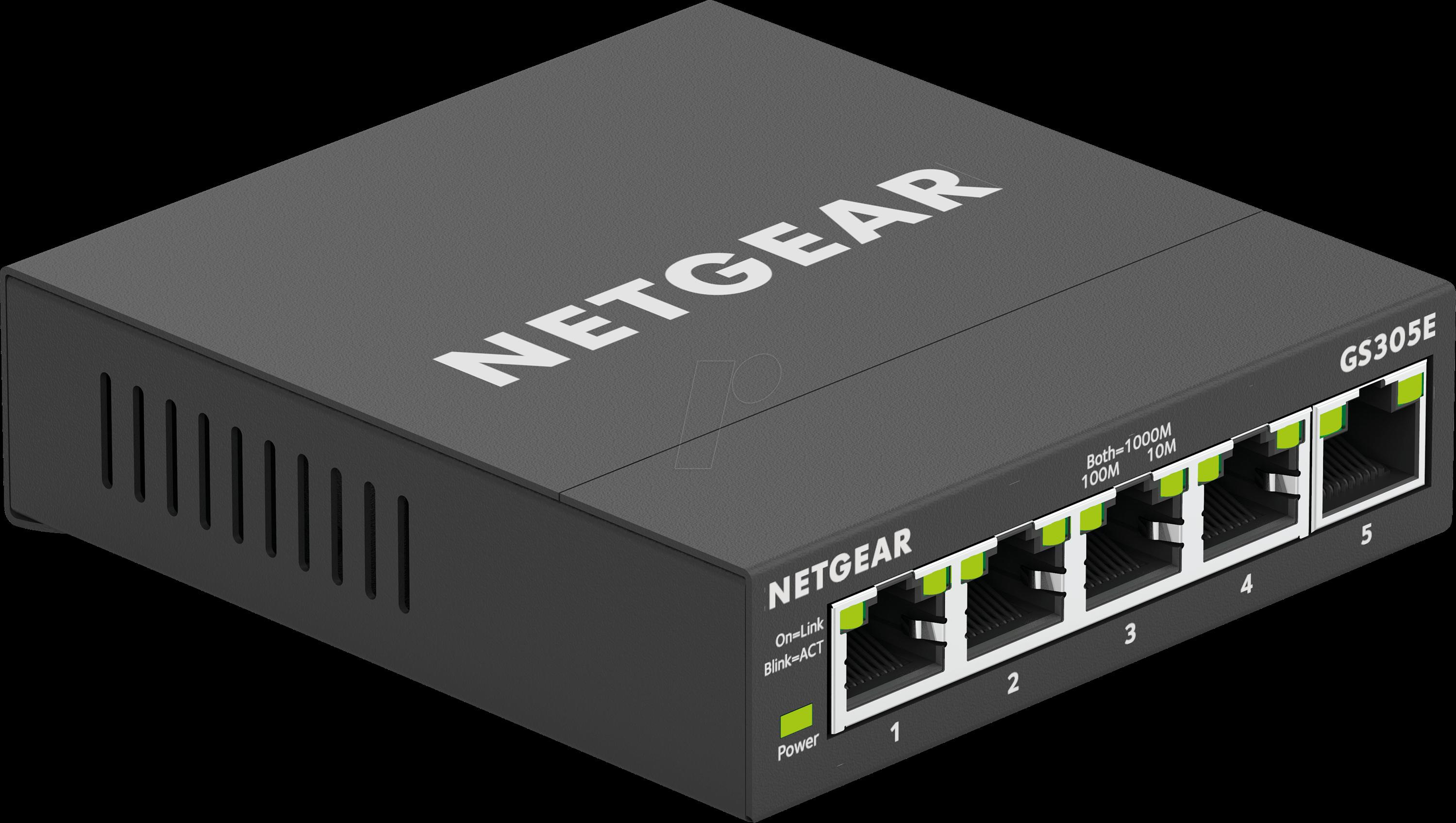 NETGEAR GS305E - Switch, 5-Port, Gigabit Ethernet