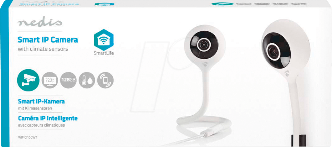 N WIFICI10CWT - WiFi Smart IP Camera , Climate sensor, HD 720p