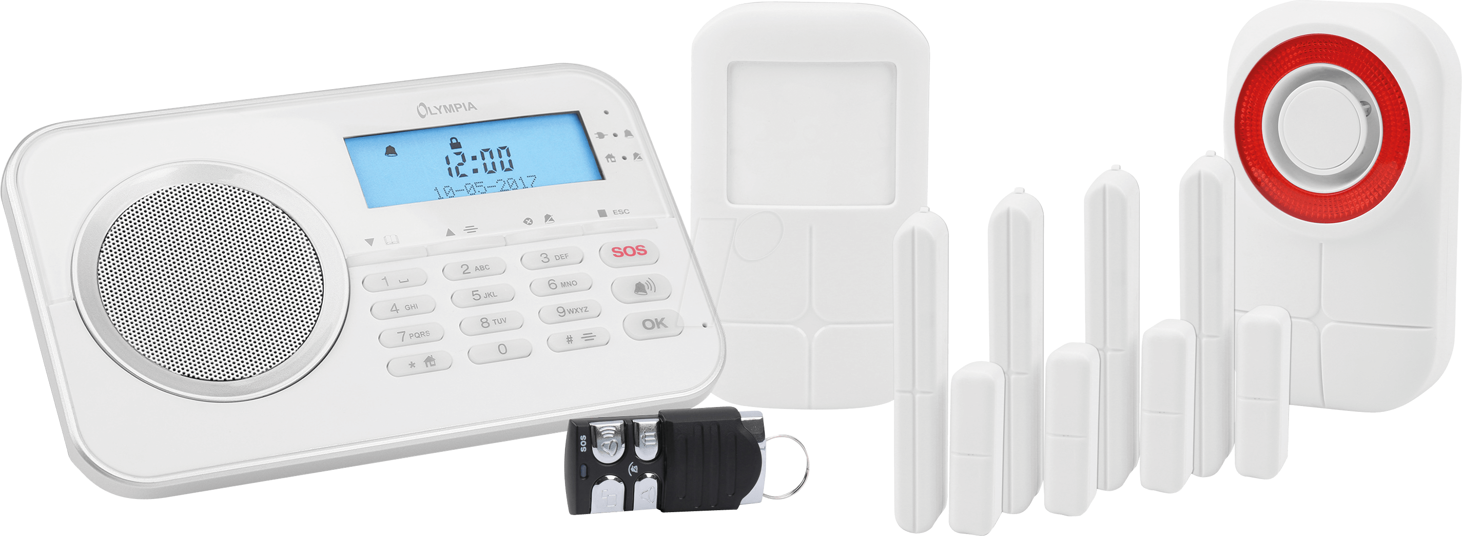 OLYMPIA 6003: Alarmanlage Protect, Funk 868 MHz, mit GSM Modul bei ...