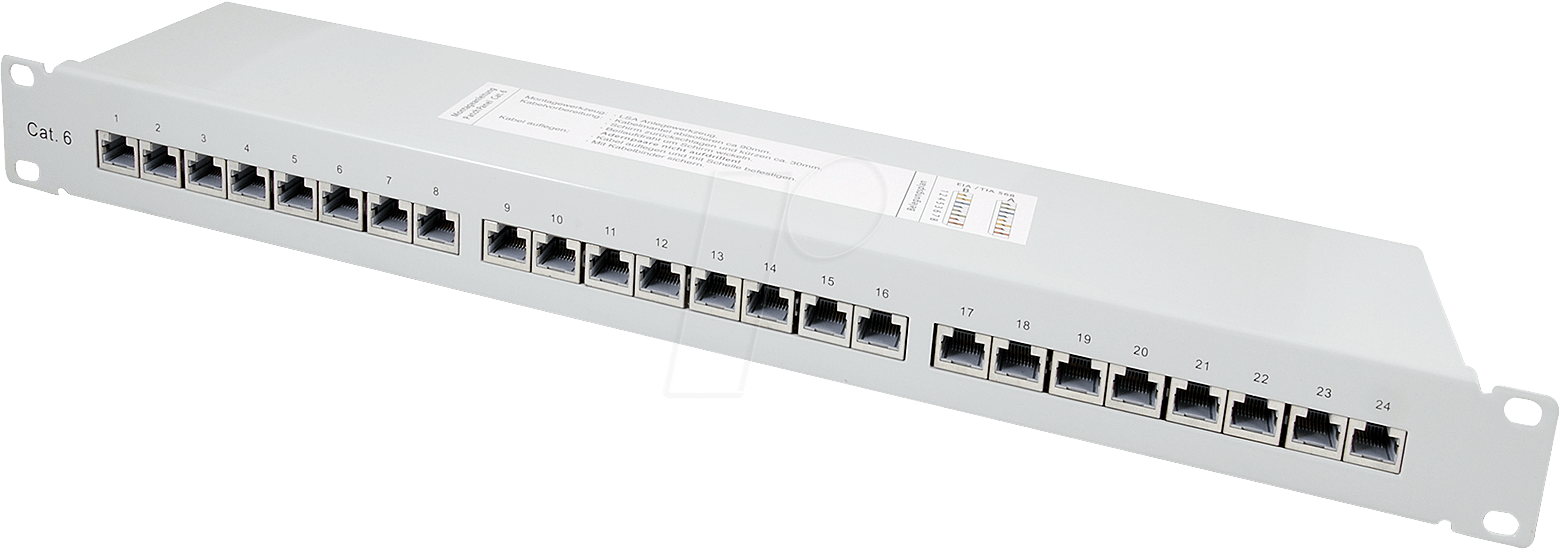 Patchpanel 24c6a 48 Cm 19 Premium Patch Panel Cat6 24 Ports At Port Cat 6 Cable Wiring Efb Elektronik