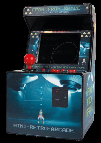 retro arcade console de jeux vid o r tro chez reichelt. Black Bedroom Furniture Sets. Home Design Ideas