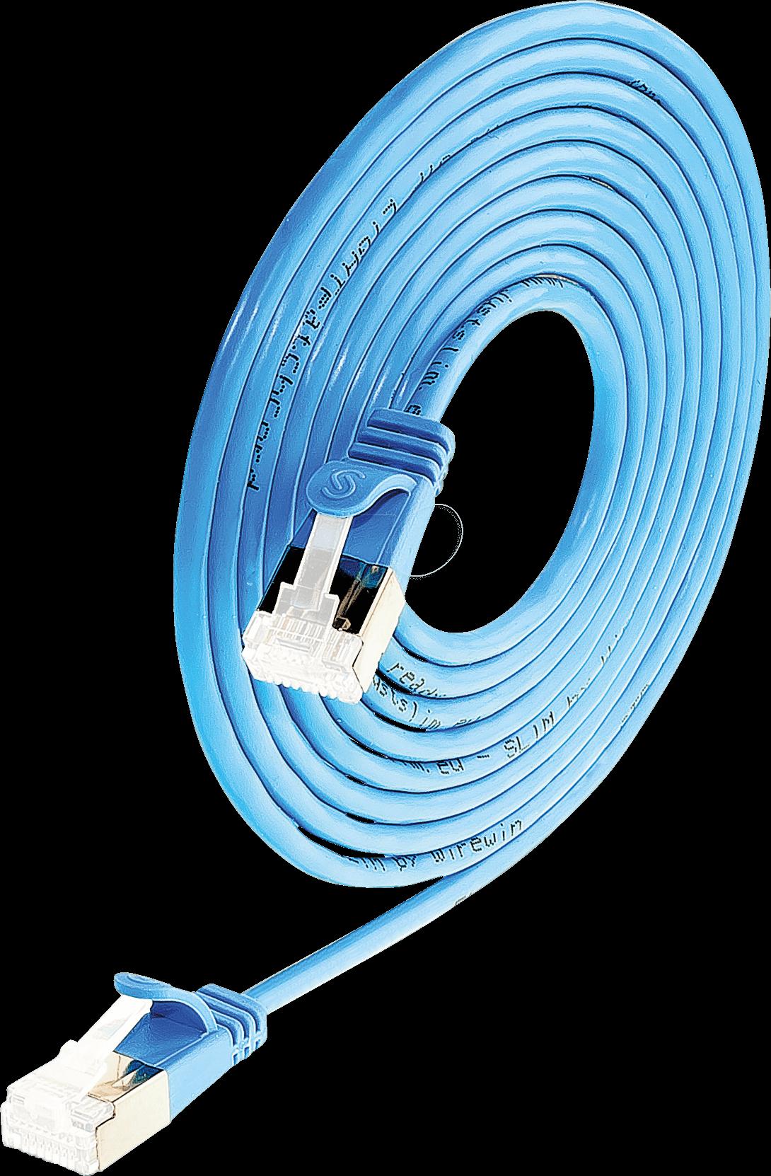 SLIM SL6A 1,5 BL - Cat.6a SLIM-Light-Kabel, U/FTP, 1,5 m, blau