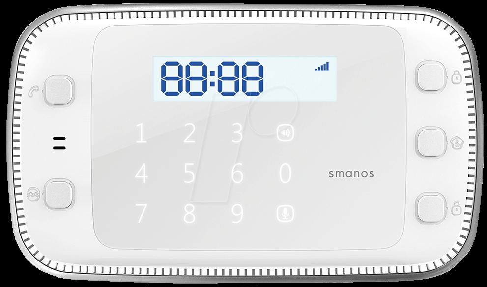 smanos x500 alarmanlage set gsm sms rfid bei reichelt elektronik. Black Bedroom Furniture Sets. Home Design Ideas