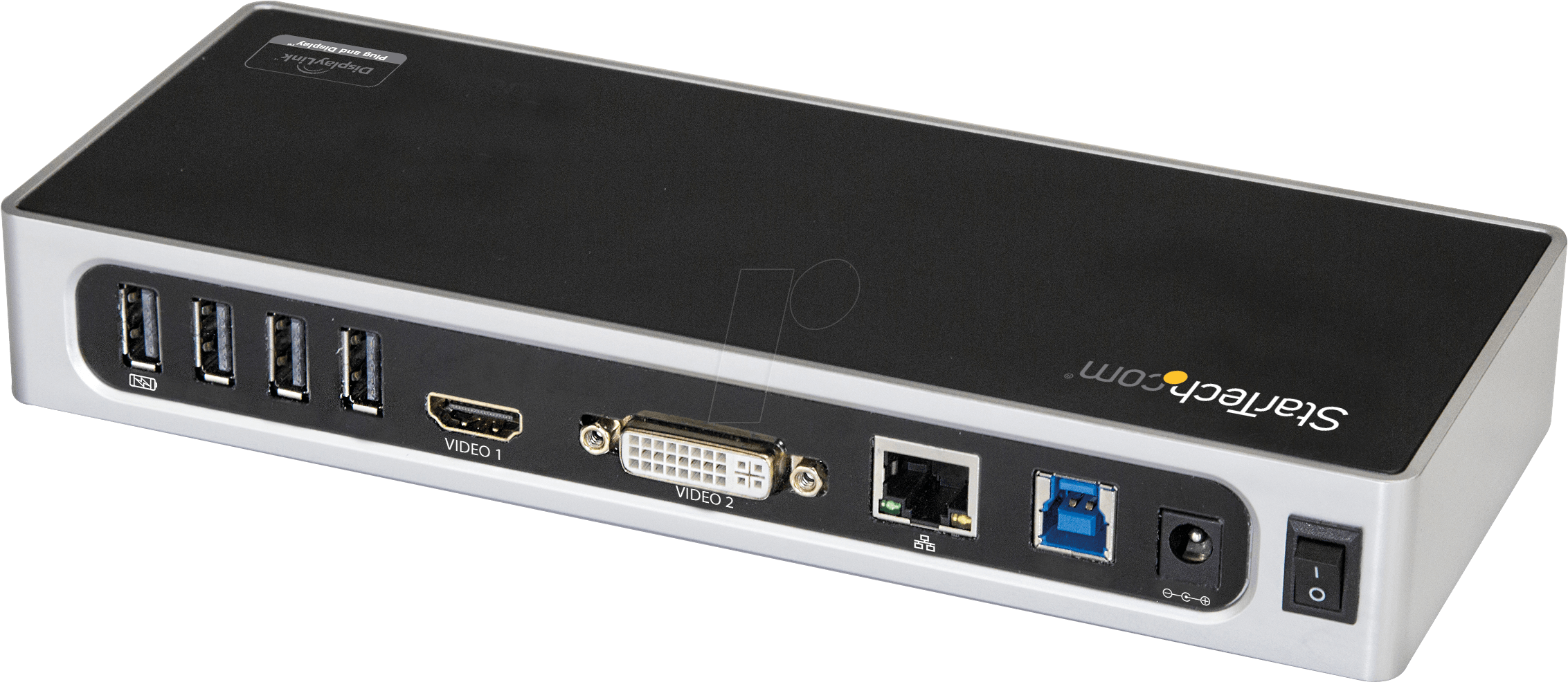 6 x USB 3.0 USB to VGA or DVI StarTech.com USB 3.0 Dual Monitor Docking Station DK30ADD Port Replicator Mac /& Windows USB to HDMI