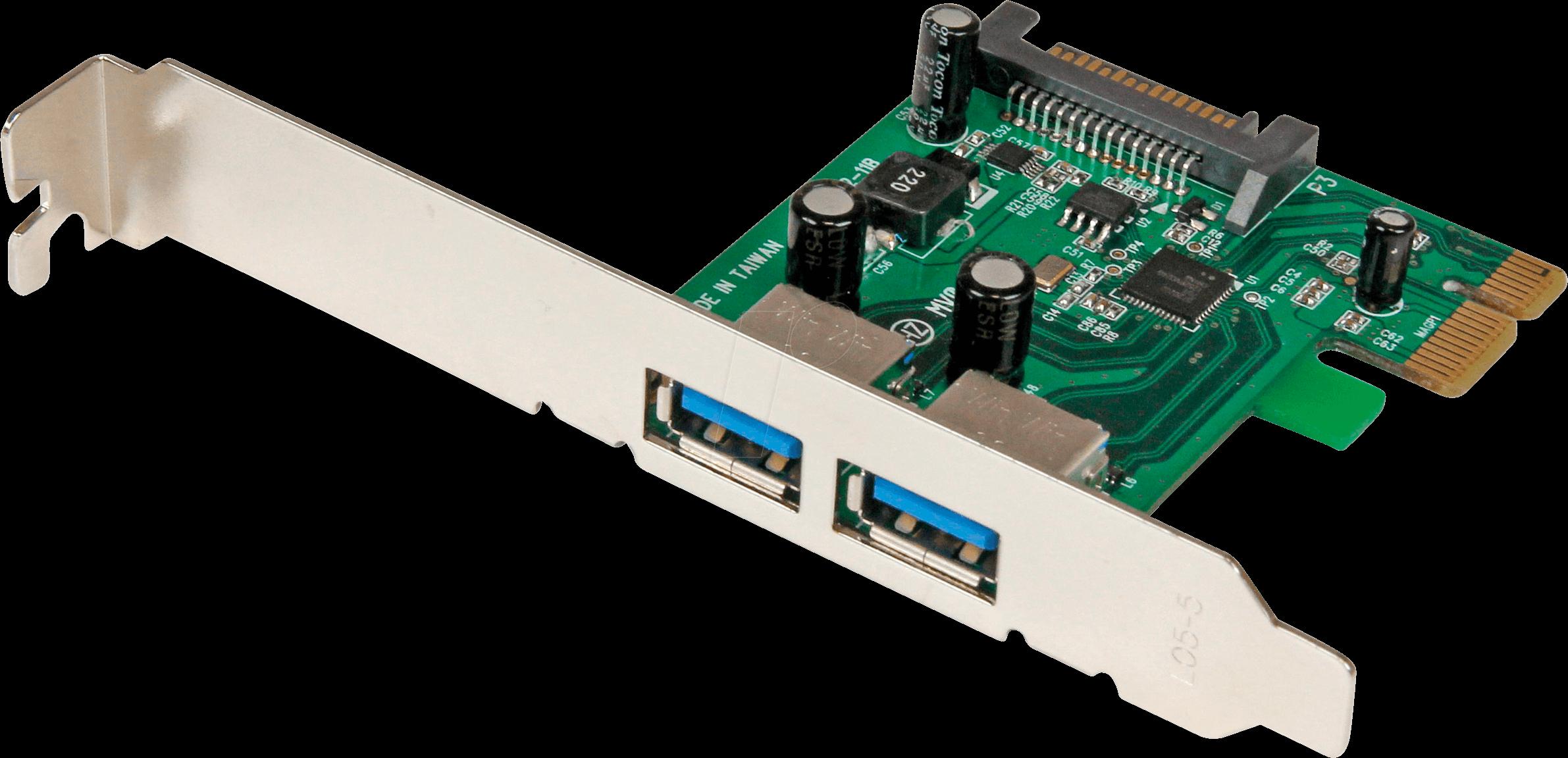 Dual Port PCI USB 3 Controller Card StarTech.com 2 Port PCI SuperSpeed USB 3.0 Adapter Card with SATA Power