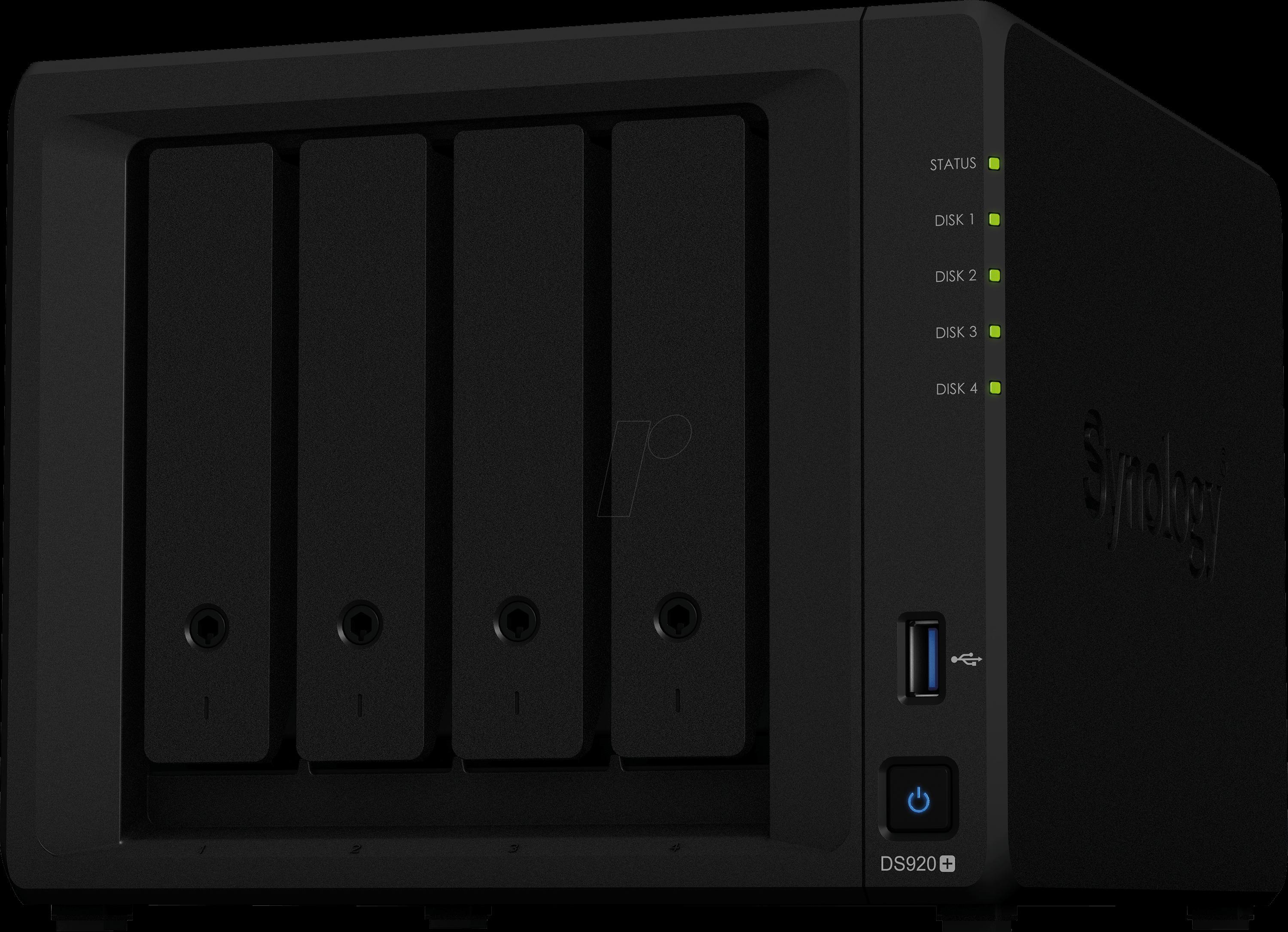 Image of SYNOLOGY DS920+ - NAS-Server DiskStation DS920+ Leergehäuse