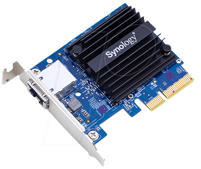 SYNOLOGY E10G18T - Network card, PCI Express, 10 Gigabit Ethernet, 1x SFP