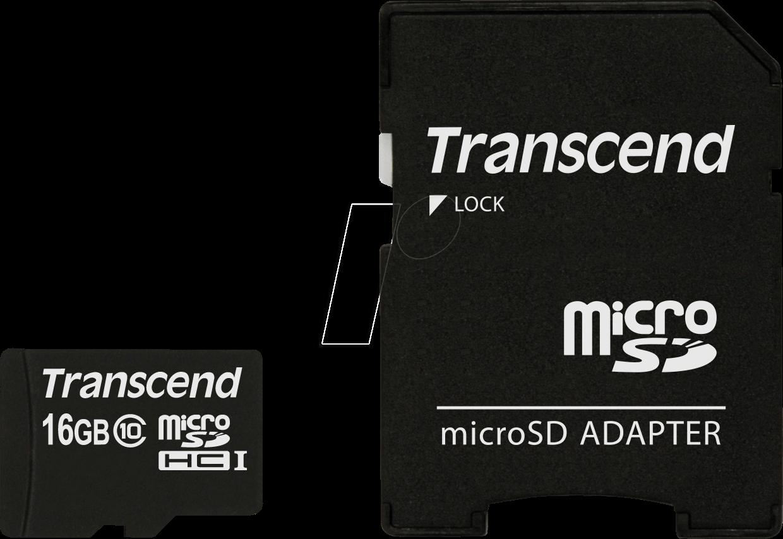 Micro Sd Karte 16gb.Ts16gusdhc10 Microsdhc Card 16gb Transcend Class 10