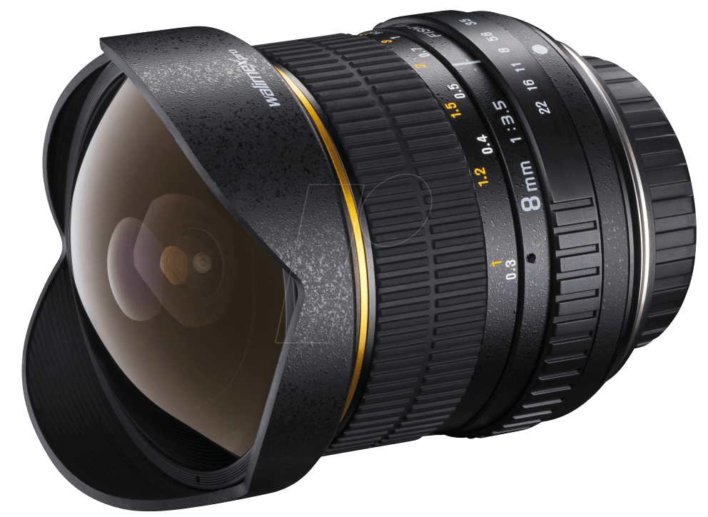WALIMEX 17568 - Objektiv, Foto, 8mm, Fisheye, N...
