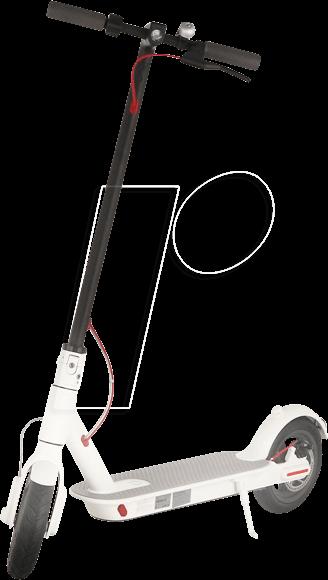 XIAOMI M365W - XIAOMI Mi Electric Scooter M365, white