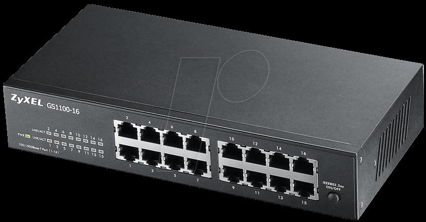 Zyxel Gs1100 16 16 Port 10 100 1000 Gigabit Switching
