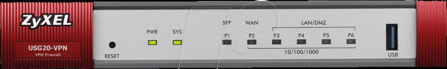 ZYXEL USG20 - Firewall USG 20-VPN (Device only)