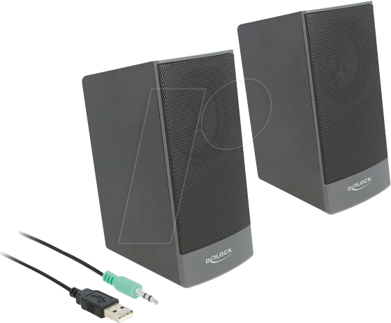 DELOCK 27001 Lautsprecher, PC, Stereo, 3,5mm Klinke