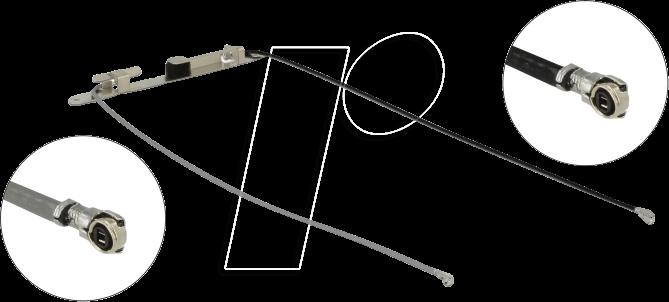 DELOCK 12551 - WLAN Antenne, MHF® 4L Stecker