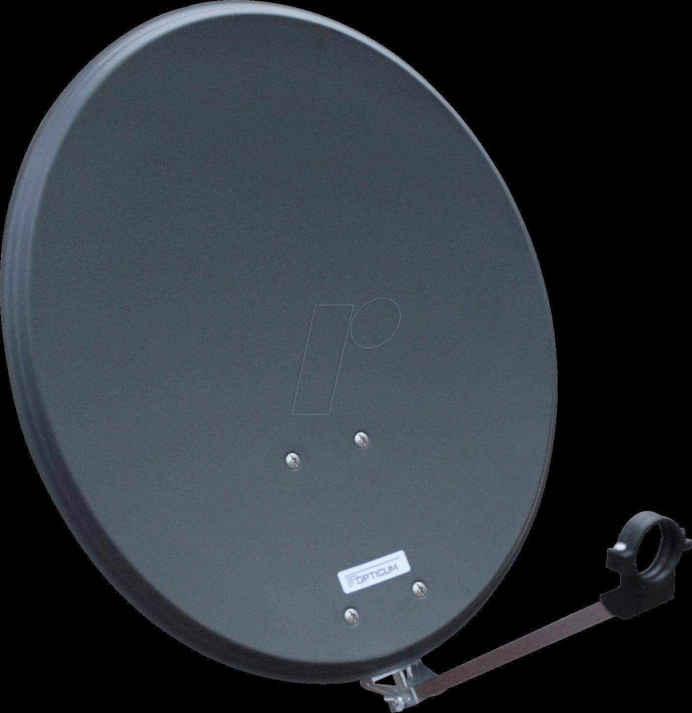OPTICUM 9128 - Sat Antenne Stahl, Anthrazit, Single LNB