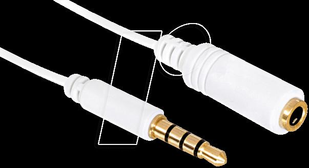 84480 - Audio Kabel, 3,5 mm Klinkenstecker auf Kupplung, IPhone, 1 m