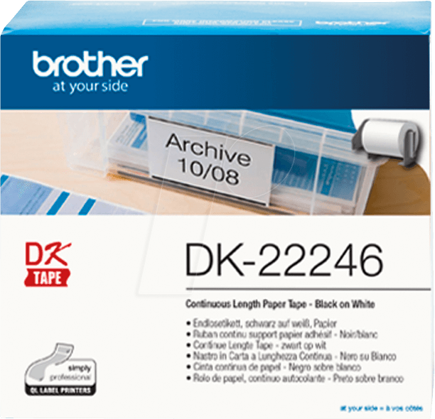 BRO DK22246 - Continuous labels (paper), 103 mm wide