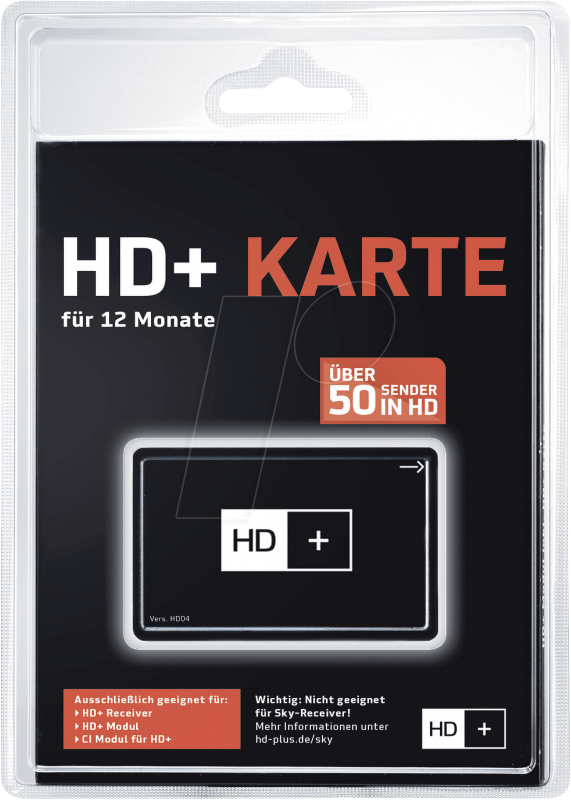 hdplus smart 12 monate hd+ karte HD+ KARTE: HD+ smart card (for satellite only) at reichelt elektronik