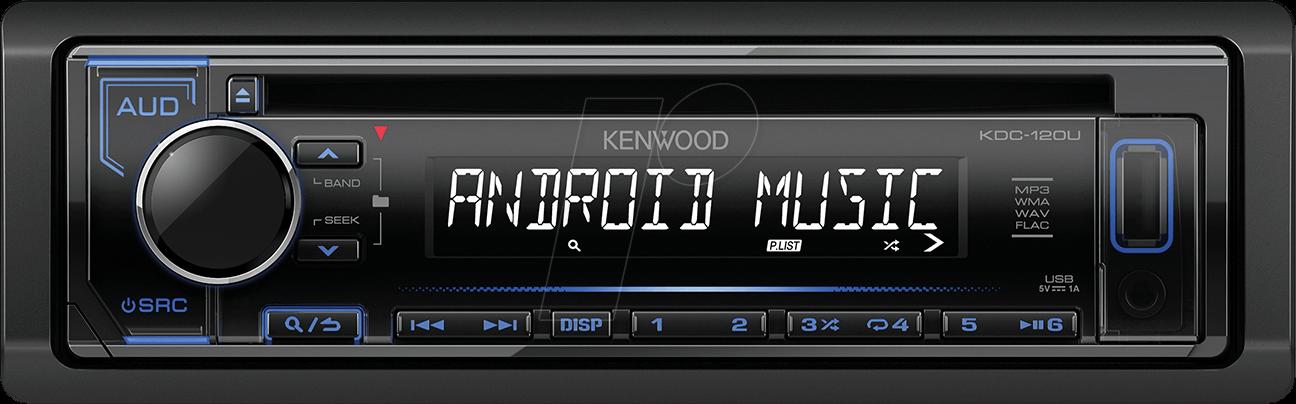 KW KDC-120UB: Digitale mediareceiver, AOA 2.0, USB, blauwe ...
