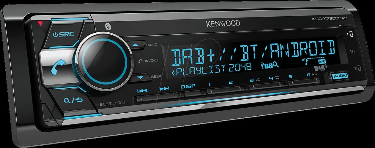 KW KDC-X7200DAB - Digital media receiver, DAB+, AOA 2 0, A2DP, bluetooth