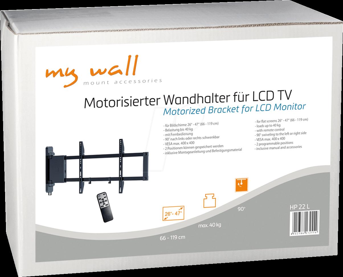Motorisierte TV Wandhalterung, 26   47 MYWALL HP 22 L