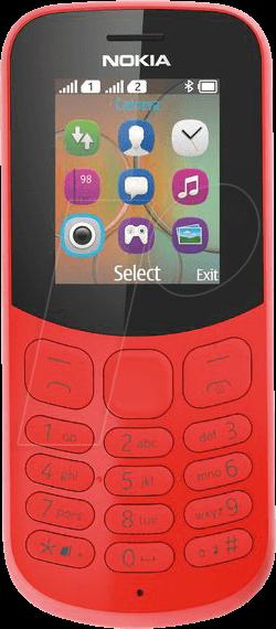 NOKIA 130 DRT - Mobiltelefon, Dual-Sim, rot