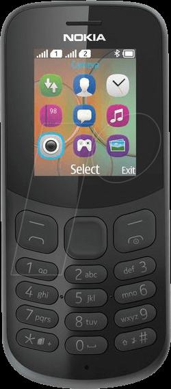 NOKIA 130 DSW - Mobiltelefon, Dual-Sim, schwarz