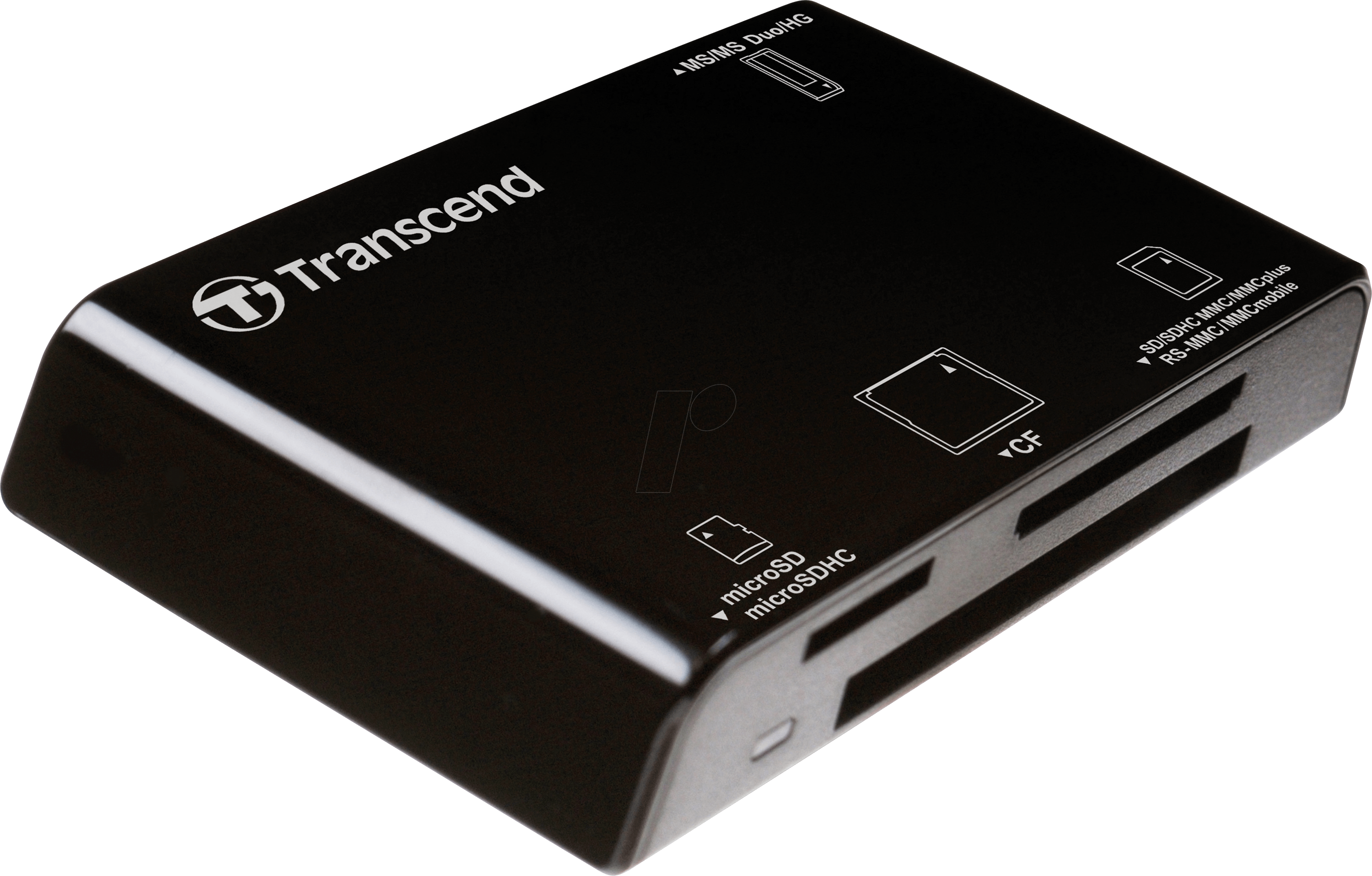 Ts Rdp8k Card Reader External Usb 20 Sd Microsd Compact Flash Transcend