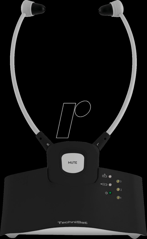 TSAT 0002/9125 - Stereo TV Funkkopfhörer, In-Ear-Bügel, schwarz
