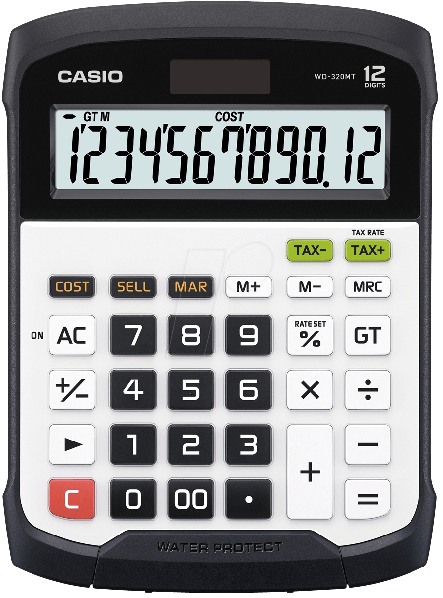 Casio Wd 320mt Water Protected Calculator At Reichelt Elektronik