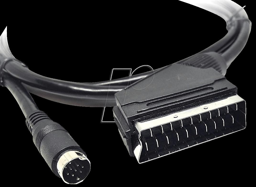 xoro kabel av3 av cable scart mini din at reichelt elektronik. Black Bedroom Furniture Sets. Home Design Ideas