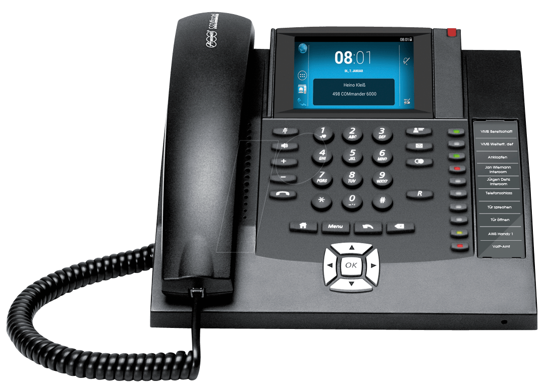 AUERSWALD 90071 - Android-based VoIP telephone, black