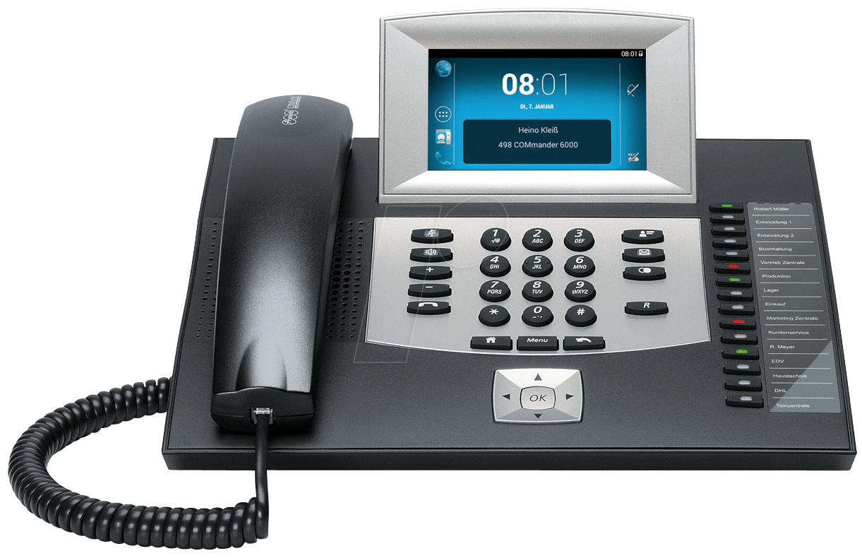 AUERSWALD 90073 - Android-based VoIP telephone, black