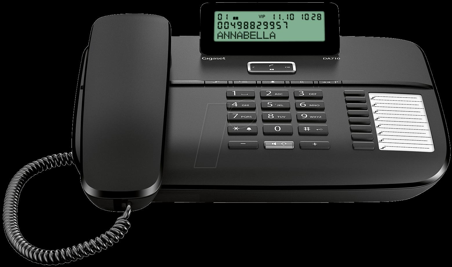 gigaset da710 sw telephone with cord black at reichelt. Black Bedroom Furniture Sets. Home Design Ideas