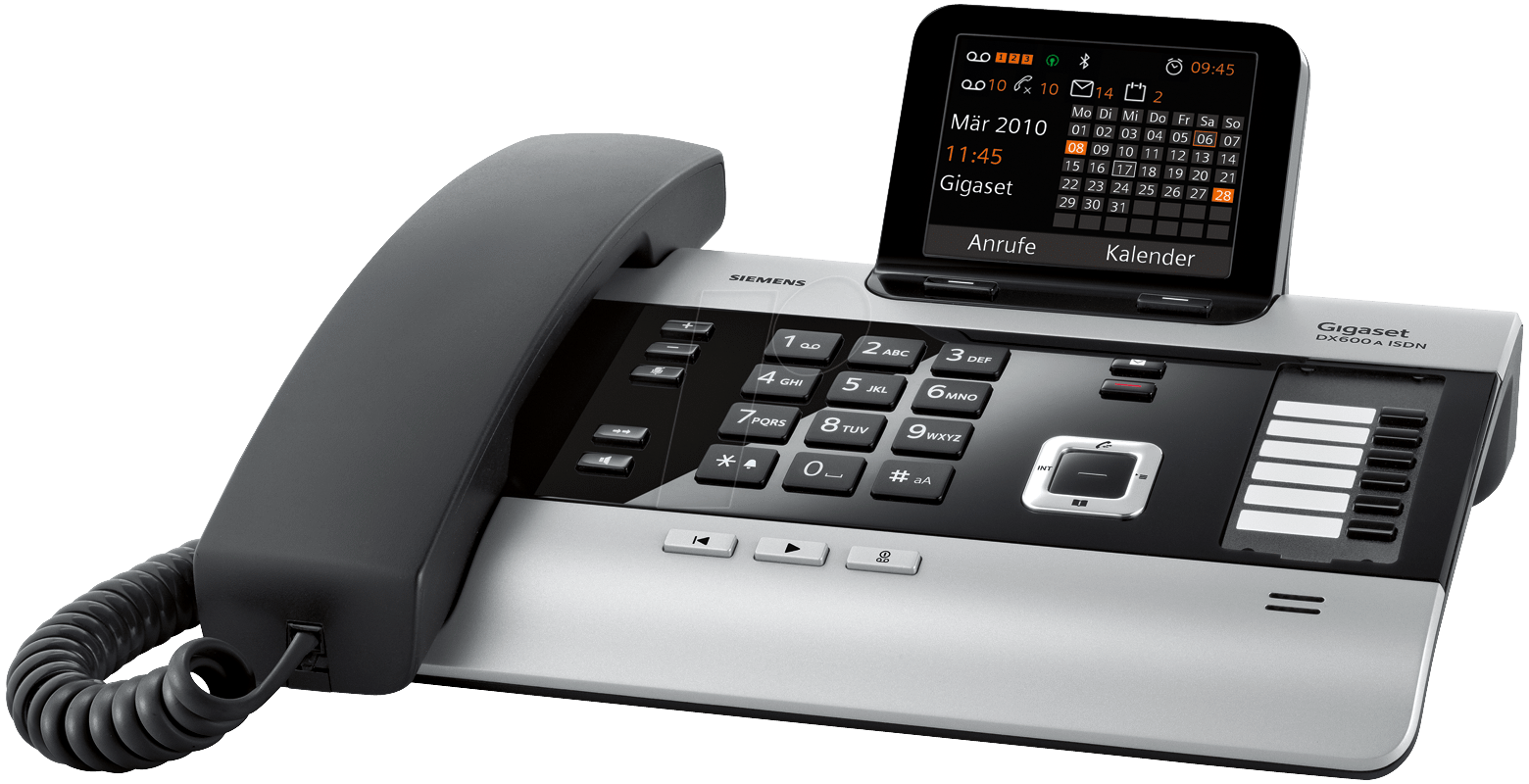 gigaset dx600a isdn telefon mit anrufbeantworter a b. Black Bedroom Furniture Sets. Home Design Ideas
