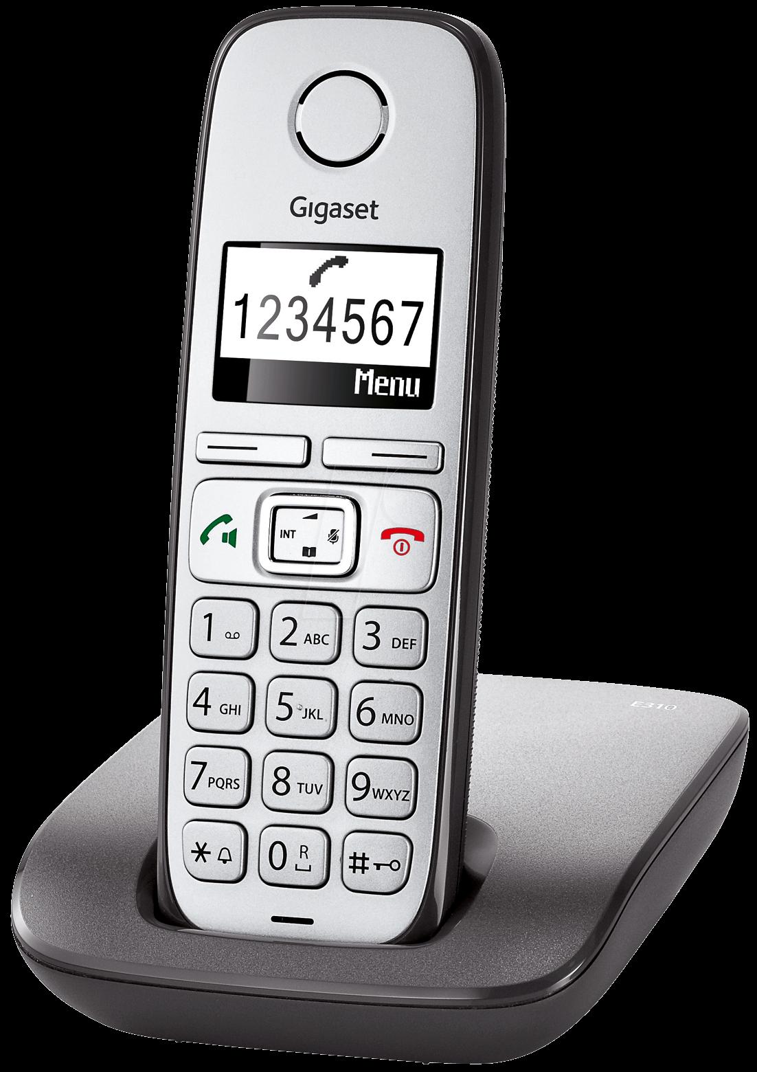 gigaset e310 an dect telephone 1 handset anthracite at. Black Bedroom Furniture Sets. Home Design Ideas