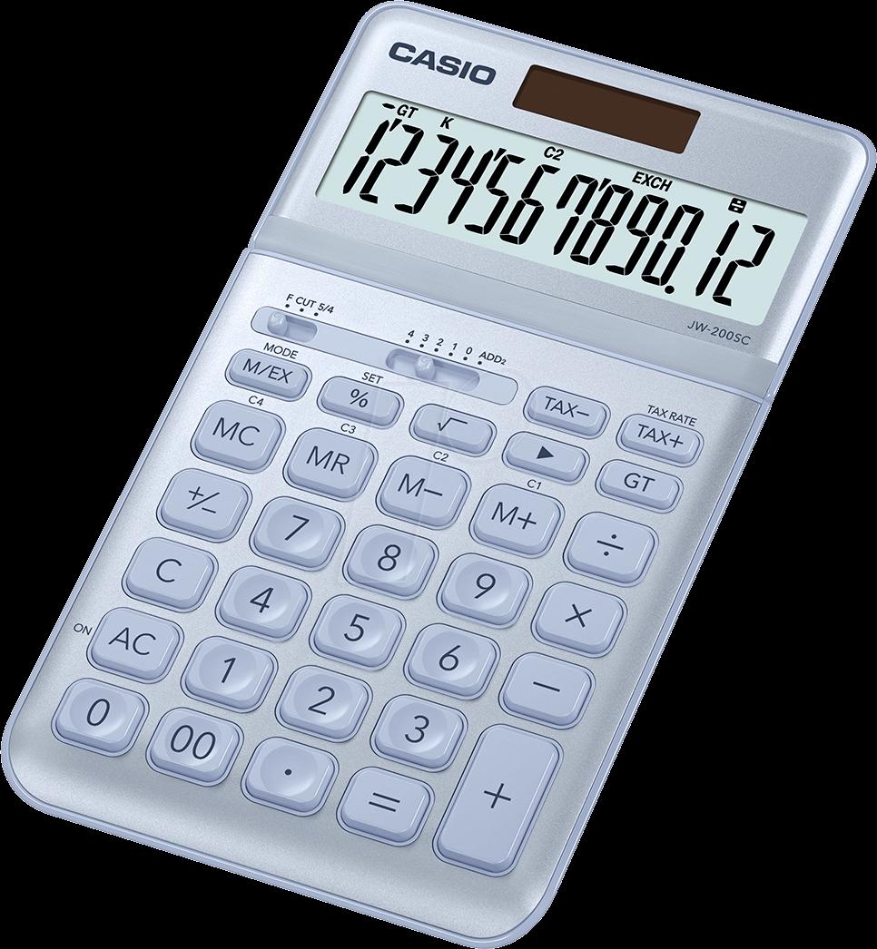 Casio Jw200scbu Pocket Calculator Solar Blue At Reichelt Jw 200sc Bu