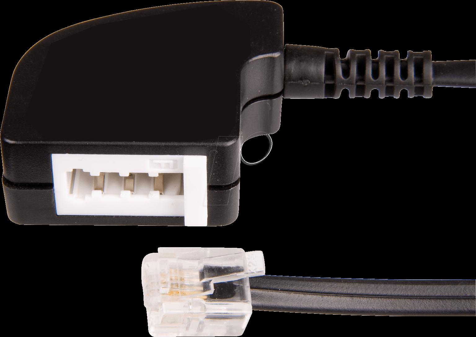 TAE 4FK-MS - TAE Adapterkabel, F Buchse / Modular Stecker, 0,2 m