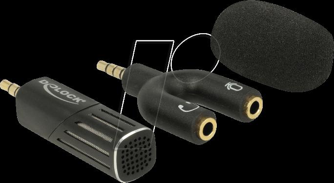 delock 65894 mikrofon f r smartphone tablet klinke 3 5 mm. Black Bedroom Furniture Sets. Home Design Ideas