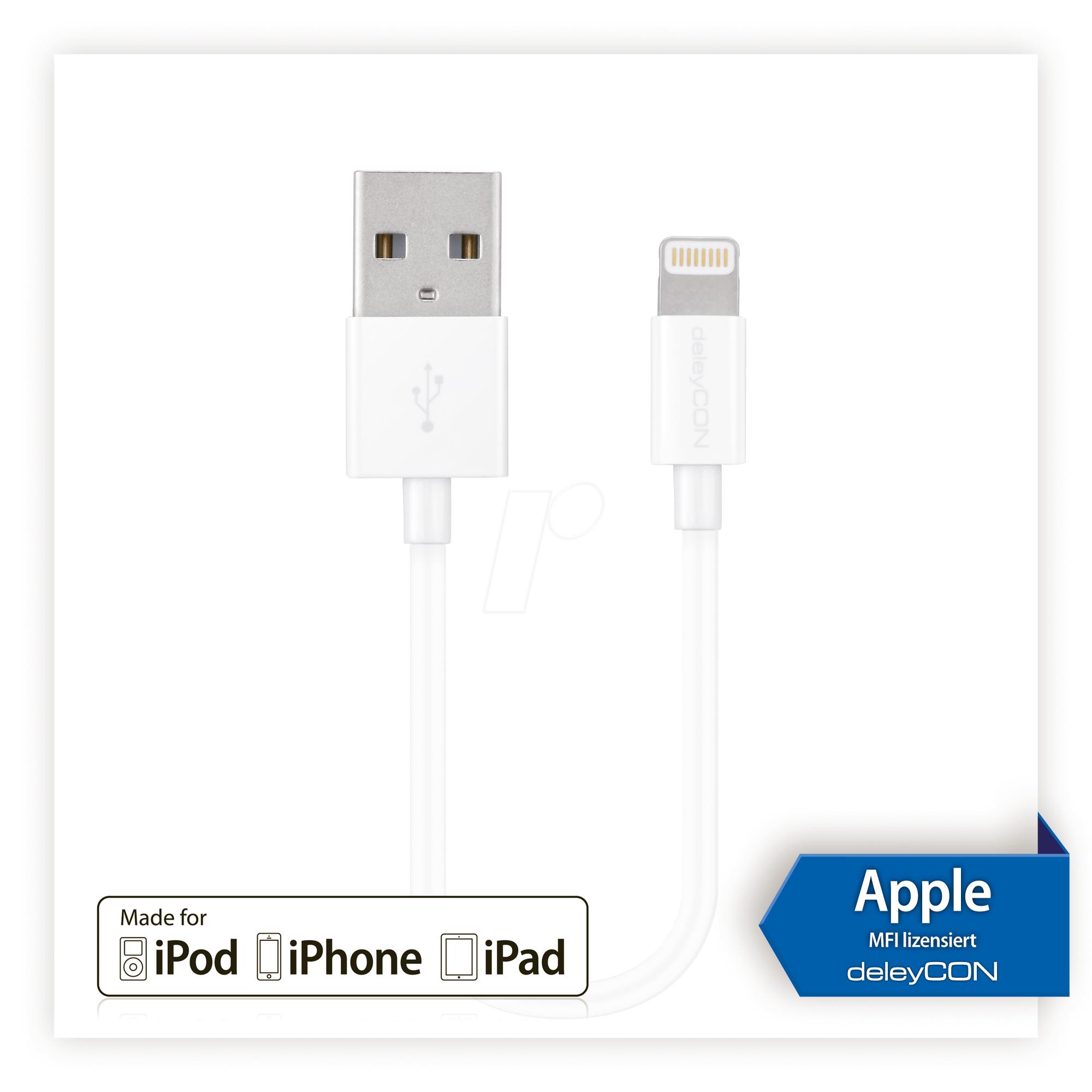 MK-MK395 - Sync- & Ladekabel, USB-A -> Lightning, weiß, 0,15 m