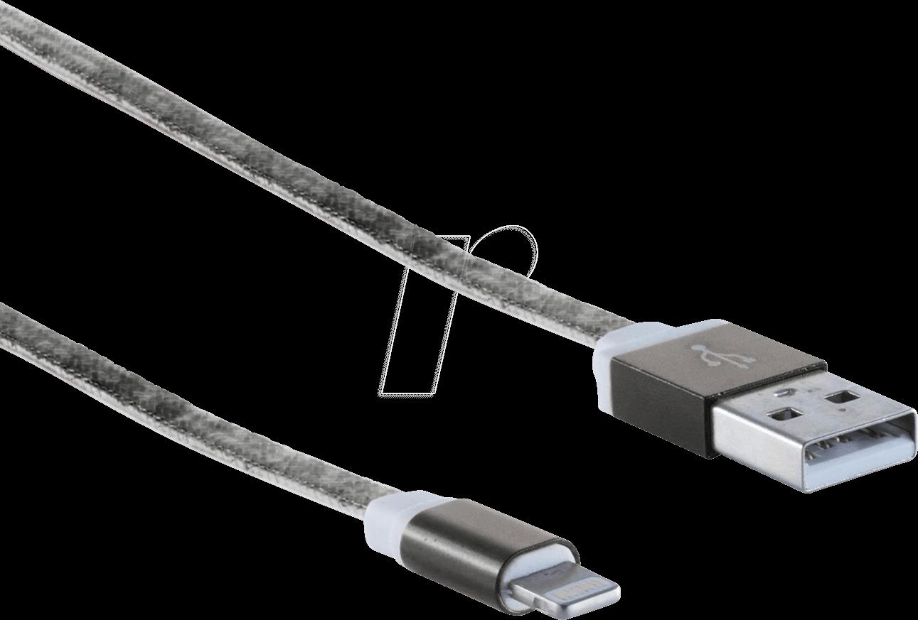 SHVP BS1450033 - USB-A-Stecker > Lightning Stecker schwarz 0,3m