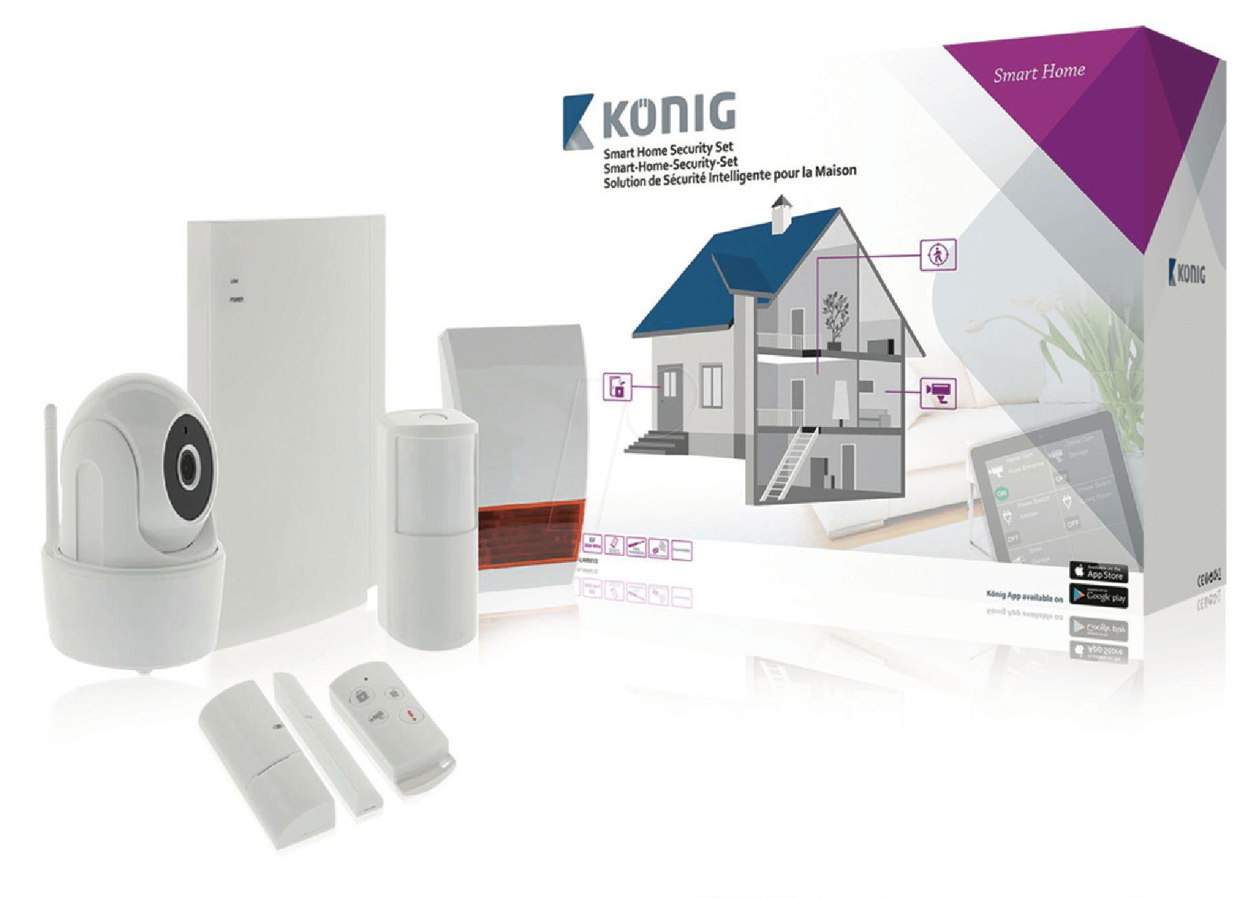 sas clarm10 smart home security set at reichelt elektronik. Black Bedroom Furniture Sets. Home Design Ideas