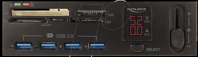 5,25 - MultiFrontpanel - USB3.0 - Cardreader DELOCK 91494