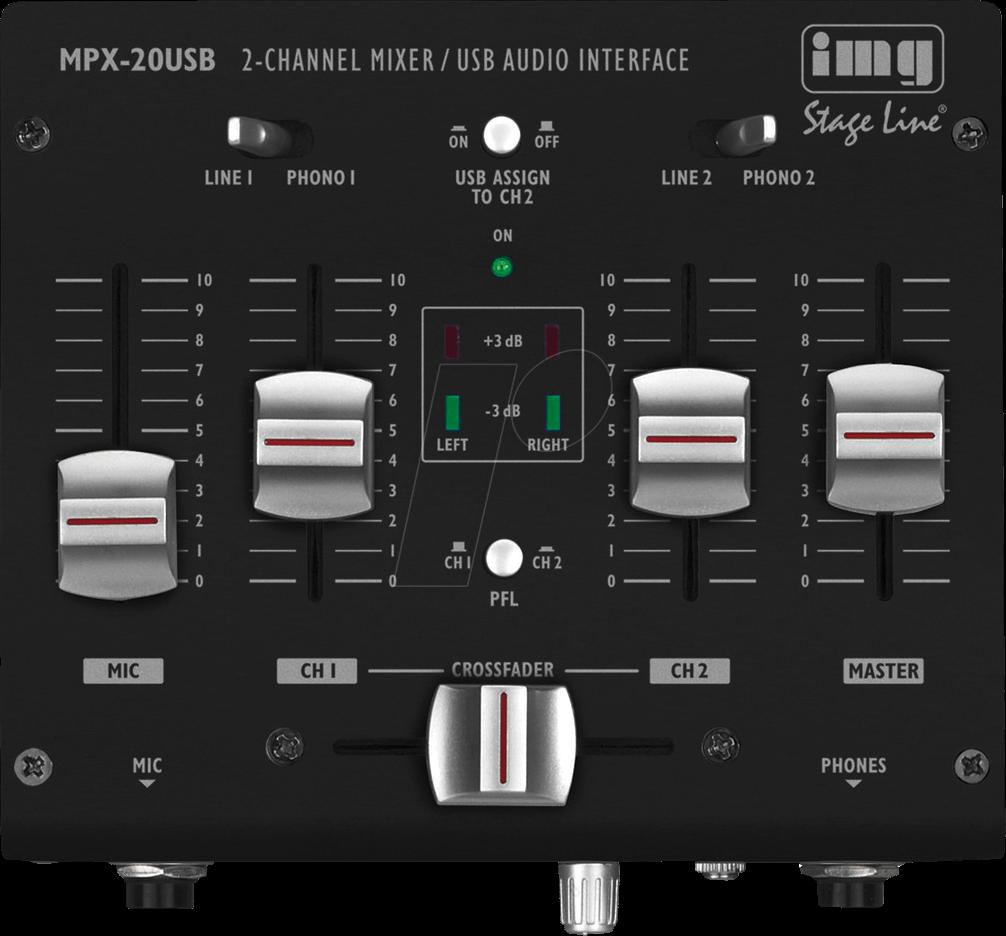 Img Mpx 20usb 3 Channel Stereo Dj Mixer At Reichelt Elektronik Audio Stage Line