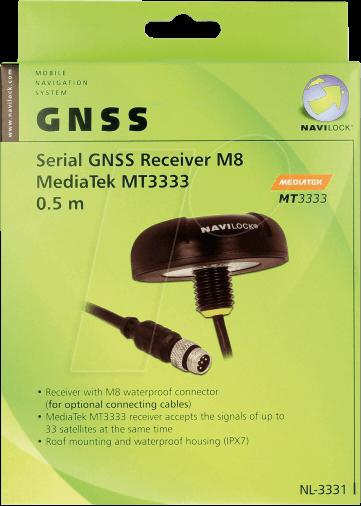 NAVILOCK 60326 - NL-3331 M8 ser  Multi GNSS Receiver MT3333 0 5 m