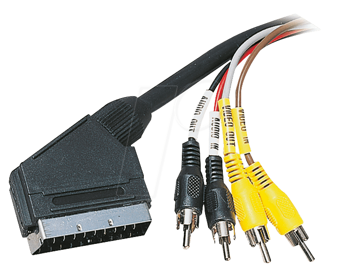 AVK 162 - Scart Kabel Scart auf 2x Cinch Audio, 2x Cinch Video, 1,5 m
