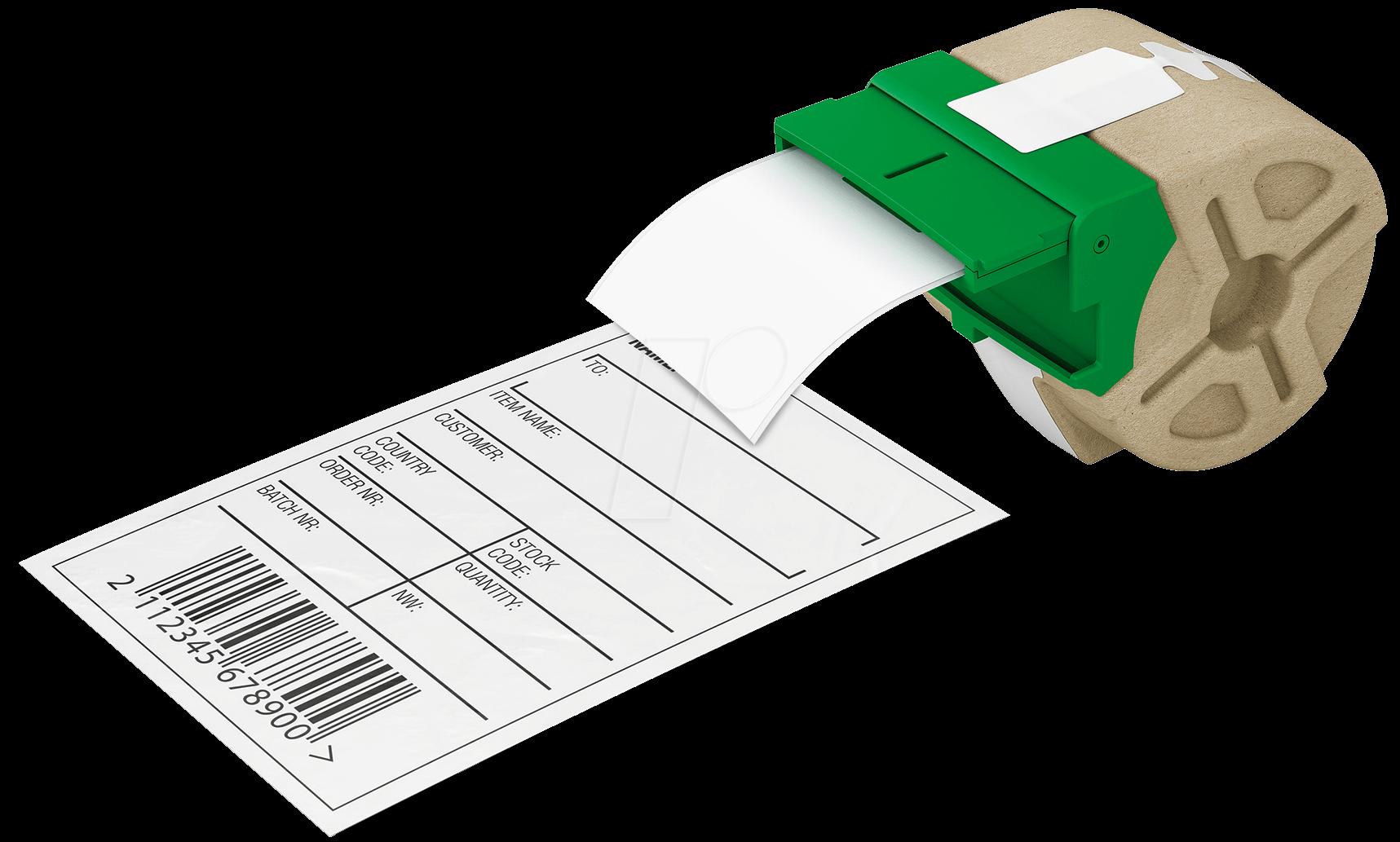 70040001 - Etikettenkartusche, Papier, 61 mm x 22 m, schwarz/ weiß